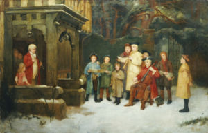 The Carol Singers, 1893 by William M. Spittle