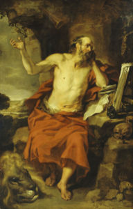 Saint Jerome In The Wilderness by Peter van Lint