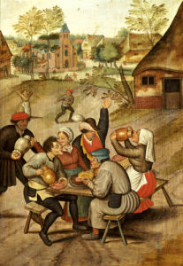 The Servants Breakfast After The Wedding by Pieter Brueghel The Younger