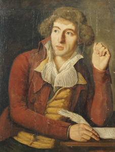 Portrait Of A Gentleman, Wearing A Red Jacket, 1796 by Charles Dupaty