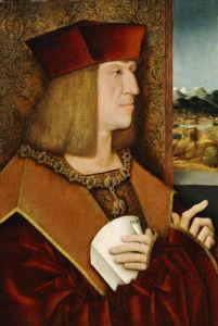 Portrait Of Emperor Maximilian I (1459-1519) by Bernhard Strigel