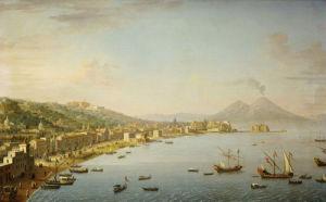 View Of Naples From Posillipo With The Riviera Di Chiaia by Antonio Joli
