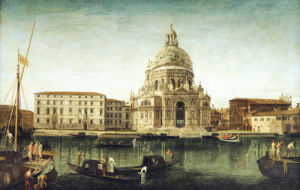 Santa Maria Della Salute, Venice, With Gondolas On The Grand Canal by Michele Marieschi