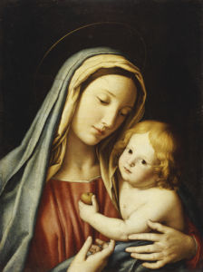 The Madonna And Child by Sassoferrato (Giovanni Battista Salvi)
