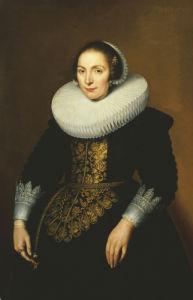 Portrait Of A Lady by Bartholomeus Sarburgh