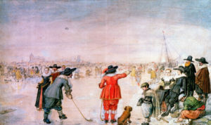 Golf On The Ice On The River Ijsel Near Kampen by Hendrik Avercamp