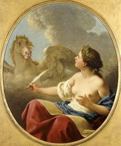 Poetic Inspiration, 1774 by Louis Jean Francois Lagrenee