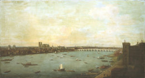 The City Of Westminster From Lambeth, Circa 1746 by Antonio Joli