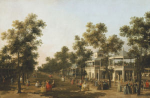 View Of The Grand Walk, Vauxhall Gardens by Giovanni Canaletto