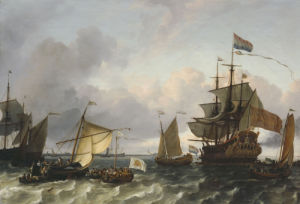 The Frigate Princes Maria, Flying The Standard Of Prince William Of Orange by Ludolf Bakhuizen