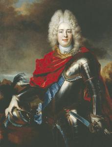 Portrait Of Frederick Augustus II Of Saxony (1696-1763) by Nicholas de Largilliere