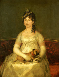 Portrait Of Dona Francisca Vicenta Chollet Y Caballero, 1806 by Francisco de Goya