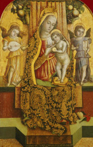 The Madonna And Child Enthroned With Music-Making Angels by Vittore Crivelli