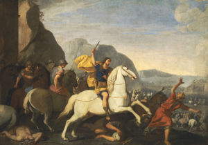 Saint James At The Battle Of Clavijo by Aniello Falcone