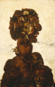 Anthropomorphic Heads - One Of The Four Elements - Earth by Giuseppe Arcimboldo