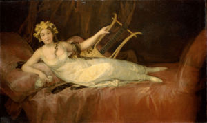 Portrait Of The 10th Marquesa De Santa Cruz As The Muse Euterpe, 1805 by Francisco de Goya