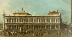 The Library And The Piazetta, Venice, Looking West, Circa 1740 by Giovanni Canaletto