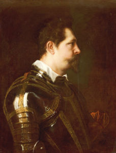Portrait Of A General, Bust Length, In Damascened Armour With White Collar And Red Sash by Sir Anthony Van Dyck