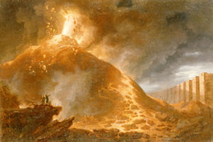 The Eruption Of Vesuvius, 1768 by Francesco Fidanza