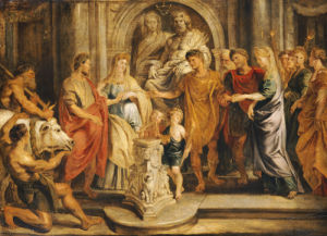 The Marriages Of Constantine And Fausta And Of Constantia And Licinius by Peter Paul Rubens