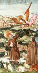 The Annunciation Of Saint Joachim, C. 1480 by Pedro Garcia de Benabarre