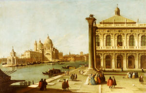 Entrance to Grand Canal, Venice with Piazzetta and the Church of Santa Maria Della Salute by Christie's Images