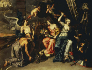 Agriculture Accompanied By Fame Worshipping Ceres As A Harpy Is Trampled Underfoot by Christie's Images