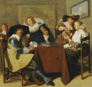 An Elegant Card Party by Dirck Hals