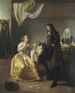 The Interior Of A Brothel by Jacob Ochtervelt