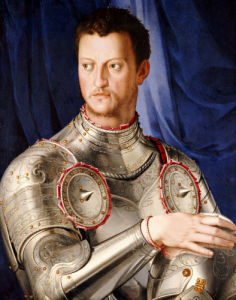 Portrait Of Duke Cosimo I De' Medici (1519-1574), C. 1545 by Agnolo Bronzino