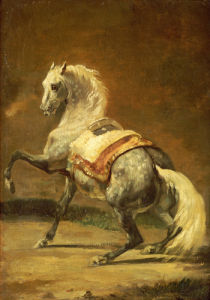 Dappled Grey Horse. Cheval Gris Pommele by Jean-Louis-André-Théodore Géricault