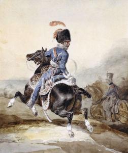Officier D'Artillerie Galopant A Gauche by Jean-Louis-André-Théodore Géricault