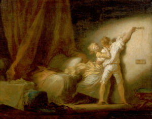 Modello Version Of Le Verrou (The Bolt) by Jean-Honoré Fragonard
