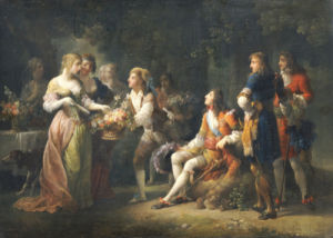 Louis XIV Of France Declaring His Love For Louise De La Valliere by Jean-Frederic Schall