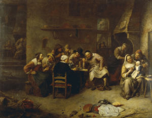 Peasants Drinking And Smoking In An Inn by Gillis van Tilborgh