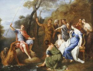 A Mythological Fishing Party by Francesco Fernandi