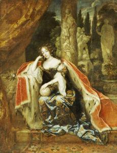 Portrait Of Queen Mary Stuart II, 1676 by Caspar Netscher