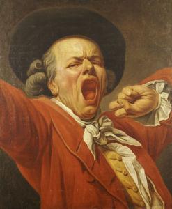 Self-Portrait As A Yawning Man, 1791 by Francois-Joseph Ducreux