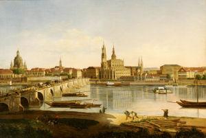 A View Of Dresden by Karl Gottfried Traugott Faber