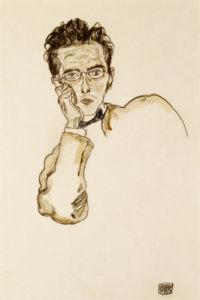 Bildnis Des Kunsthandlers, 1917 by Egon Schiele