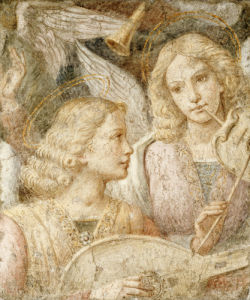 Music Making Angels - A Fragment by Christie's Images