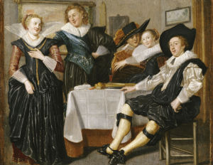 A Merry Company In An Interior by Dirck Hals