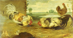 A Cock Fight by Christie's Images