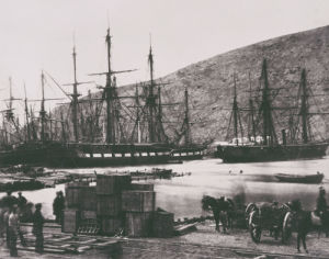 Head Of Harbour, Balaclava. From 'Photographic Views Taken In The Crimea' by Roger Fenton