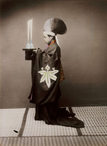 A Shinto Priest Offering Sake To The Kami, 1880 by Baron Von Raimund Stillfried
