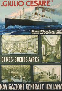 Navigazione Generale Italiana, Giulio Cesare, C.1910 by Christie's Images