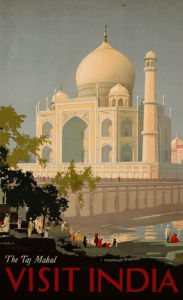 Visit India, The Taj Mahal, C.1930 by William Spencer Bagdatopoulus