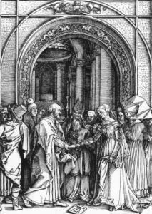 The Betrothal Of The Virgin, From The Life Of The Virgin, Circa 1504 by Albrecht Dürer