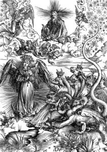 The Apocalyptic Woman or The Woman Clothed with the Sun and the Seven-headed Dragon, 1498 by Albrecht Dürer