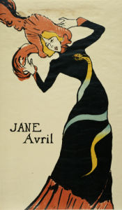 Jane Avril, 1899 by Henri de Toulouse-Lautrec